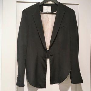 phillip lim cropped silk blazer